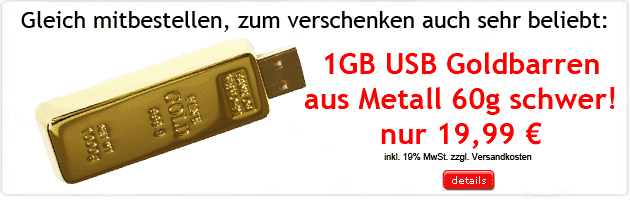 1GB USB Goldbarren